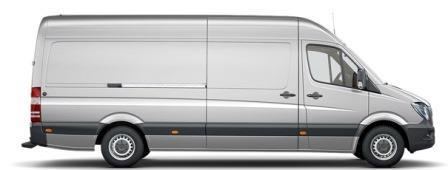 Mercedes Sprinter lang-hoog-dak